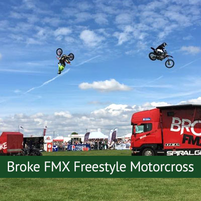 Broke FMX freestyle motorcross